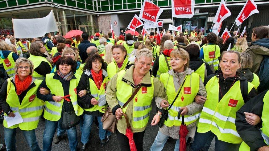 Streikende Frauen